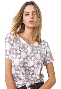 Camiseta Lança Perfume Estampada Off-White/Laranja