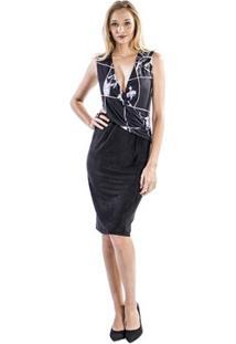 Vestido Slim Forum - Feminino-Preto