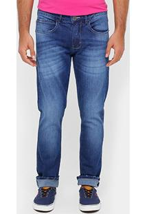 Calça Jeans Skinny Triton Gilson Stone Puídos Masculina - Masculino