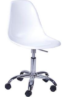 Cadeira Eames Com Rodízios Branca