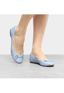 Sapatilha Shoestock Matelassê Feminina - Feminino-Azul