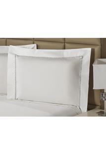 Fronha Percal 230 Fios 50X90Cm Premium Clean Branca Plumasul
