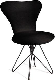 Cadeira Jaçobsen Butterfly Aço T401 Preto Daf