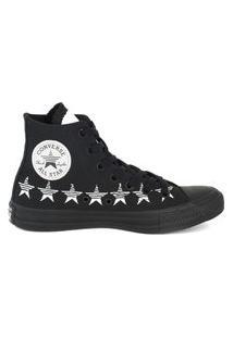 Tênis Converse Chuck Taylor All Star Hi Estrela Preto/Branco Ct14770001.35