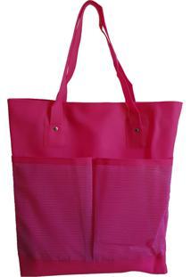 Bolsa Bag Dreams De Praia Impermeável Com Bolsos Rosa