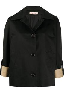 Marni Relaxed-Fit 3/4 Sleeves Jacket - Preto