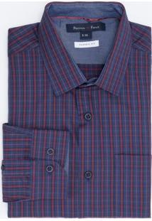 Camisa Social Comfort Fit Xadrez