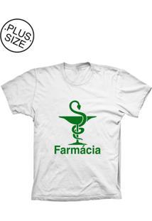 Camiseta Lu Geek Plus Size Farmácia Branco