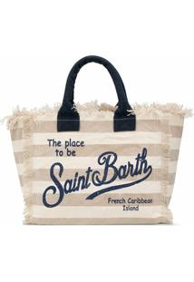 Mc2 Saint Barth Bolsa Tote Listrada Com Logo - Neutro