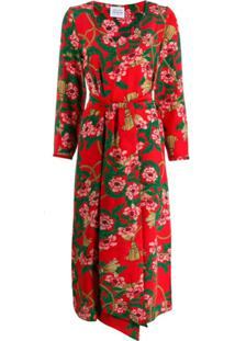 Hayley Menzies Vestido Floral 'Eden' - Vermelho