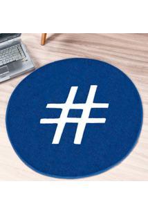Tapete Dourados Enxovais Formato Hashtag Azul Royal