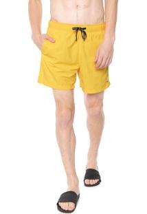 Bermuda Água Tommy Hilfiger Quadrada Amarelo