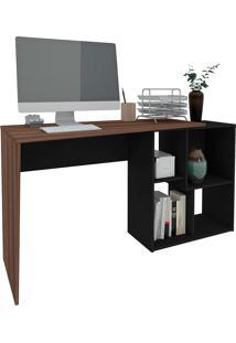 Mesa Para Computador Urban-Artany - Ipê / Preto