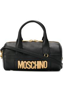 Moschino Oversized Logo Tote Bag - Preto