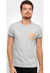 Camiseta Rg 518 Camurça Detalhe Bordado Masculina - Masculino-Grafite