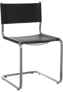 Cadeira Skin Ii 48X52X79H Preto/Cromado Etna