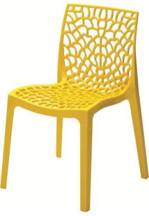 Cadeira Gruver Polipropileno Amarela - 22693 - Sun House