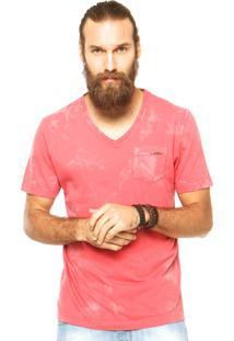 Camiseta Sommer Gola V Vermelha