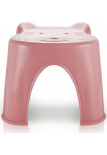Banquinho Plástico Infantil Jacki Design Suporta Até 45 Kg Rosa - Kanui