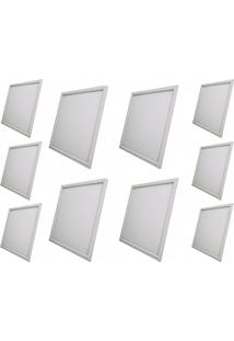 Luminária Painel Led Plafon De Embutir 60X60 36W Branco Frio Kit 2