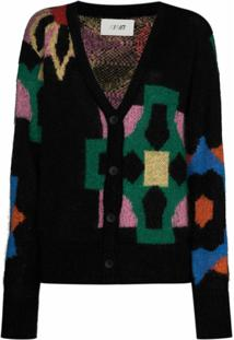 Kirin Cardigan Big Flowers - Preto