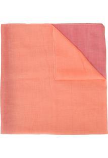 Emporio Armani Echarpe Color Block - Laranja