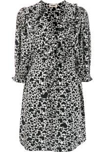 Zadig&Voltaire Roni Heart Print Dress - Preto