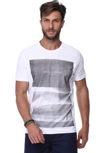 Camiseta King&Joe Estampada Branca
