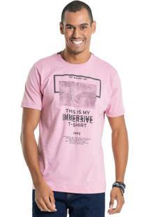 Camiseta Com Estampa Relevo Rosa Bgo