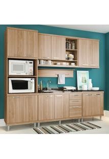 Cozinha Compacta Sem Tampo 12 Portas 5814 Argila - Multimóveis