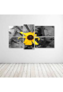 Quadro Decorativo - Flower Yellow - Composto De 5 Quadros - Multicolorido - Dafiti
