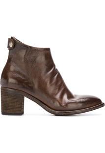Officine Creative Ankle Boot 'Sarah' De Couro - Marrom