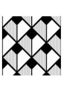 Papel De Parede Autocolante Rolo 0,58 X 3M - Preto E Branco 0199
