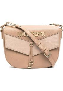 Love Moschino Heart On Straps Crossbody Bag - Neutro