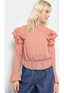 Blusa Lez A Lez Rainbow Feminino - Feminino-Rosê