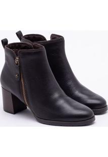 Ankle Boot Cravo & Canela Couro Café 34