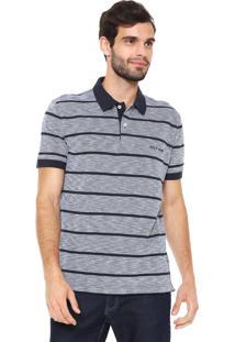... Camisa Polo Tommy Hilfiger Reta Basic Stripe Azul-Marinho afe1faa04ec55