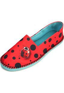 Sapatilha Shoes Inbox Alpargata Cupcakes Shoes Feminina - Feminino-Vermelho