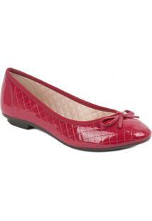 Sapatilha Moleca Bico Redondo - Feminino-Vermelho