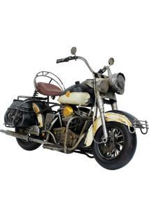 Enfeite Retrô Minas De Presentes Motocicleta Branca