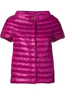 Herno Metallic Quilted Jacket - Rosa