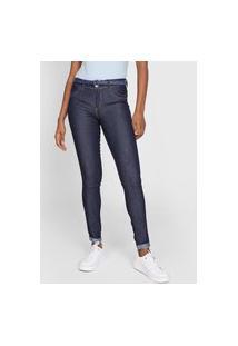 Calça Jeans Grifle Company Skinny Pespontos Azul-Marinho