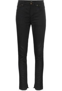 Saint Laurent Calça Jeans Skinny Cintura Alta - Preto