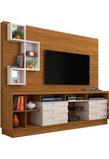 Estante Home Theater Para Tv Até 65 Pol. Heitor Naturale/Off White - M