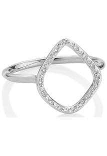 Monica Vinader Riva Diamond Hoop Ring - Prateado