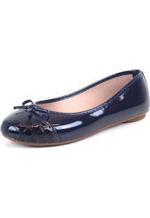 Sapatilha Tag Shoes Croco Vz Laço Azul - Tricae