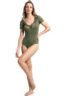 Body Vestem Unique Verde Militar