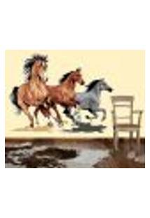 Adesivo De Parede Cavalos Correndo - G 68X93Cm