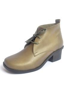 Bota S2 Shoes Serena Couro Verde Militar - Kanui