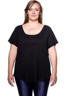 Camiseta Plus Size New Pocket - Feminino